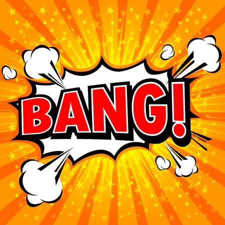 bursting: Bang! Comic Speech Bubble, Cartoon.