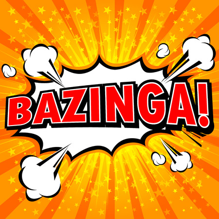 fun: Bazinga! Comic Speech Bubble, Cartoon Illustration