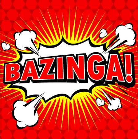 zonk: Bazinga! Comic Speech Bubble, Cartoon Illustration