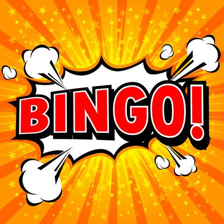 bingo: Bingo! Comic Speech Bubble, Cartoon