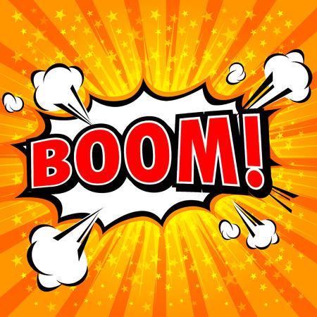 zonk: Boom! - Comic Speech Bubble, Cartoon Illustration