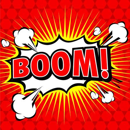 Boom! - Comic Speech Bubble, Cartoon Illustration