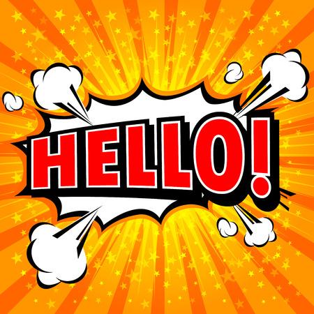 whitern: Hello ! - Comic Speech Bubble, Cartoon