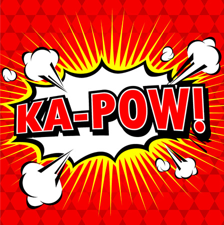 kapow: Ka-Pow! Comic Speech Bubble, Cartoon