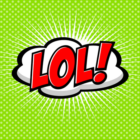 interjection: LoL! Comic Speech Bubble, Cartoon Illustration