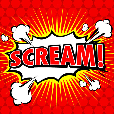 blast: Scream! Comic Speech Bubble, Cartoon. Illustration