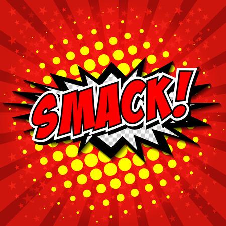 slap: Smack! Comic Speech Bubble, Cartoon.
