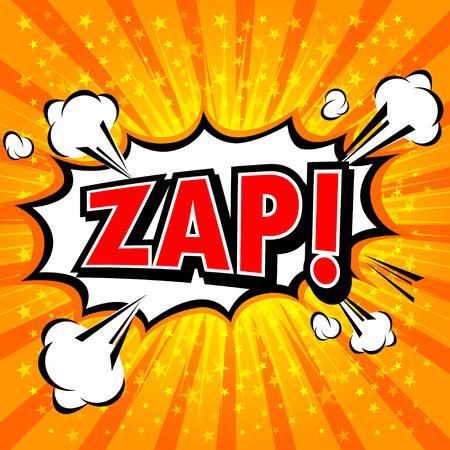 zap: Zap! - Comic Speech Bubble, Cartoon