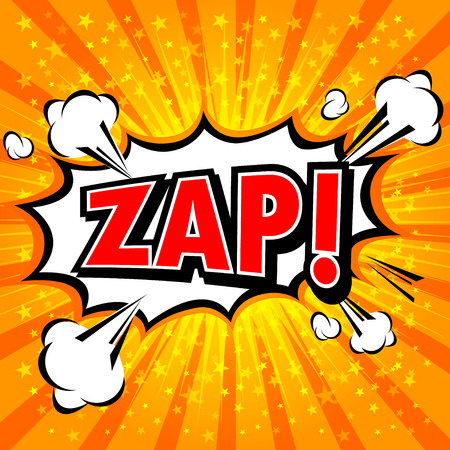 zonk: Zap! - Comic Speech Bubble, Cartoon