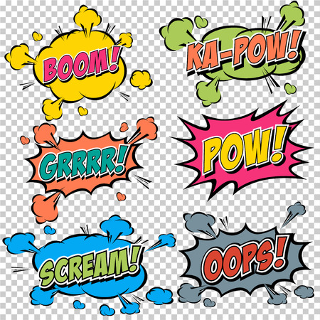 gulp: Collection multicolored comic sound Effects