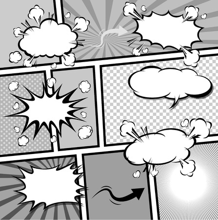 crunch: comic template Vector