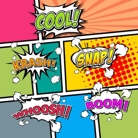 Comic template vector royalty free cliparts vectors and stock comic template vector pop art vector toneelgroepblik Choice Image