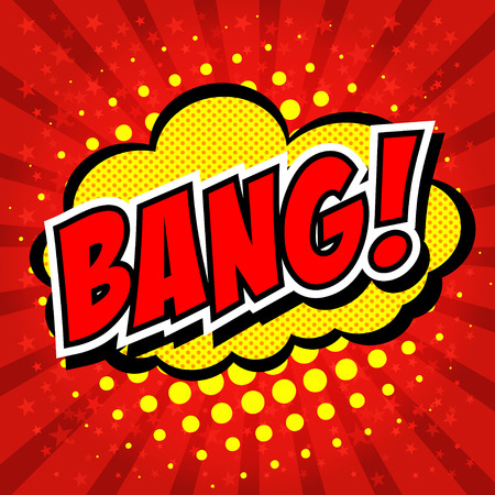 bang: Bang! Comic Speech Bubble, Cartoon.