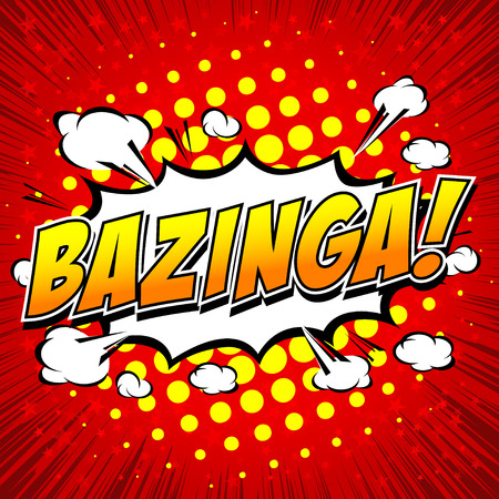 biff: Bazinga! Comic Speech Bubble, Cartoon. Illustration