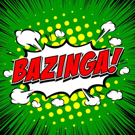 zonk: Bazinga! Comic Speech Bubble, Cartoon. Illustration