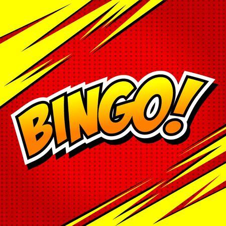 Bingo! Comic Speech Bubble, Cartoon. art and illustration vector file.