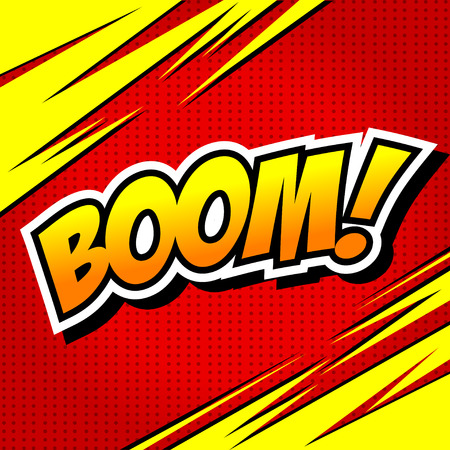 Boom! - Comic Speech Bubble, Cartoon. Illustration