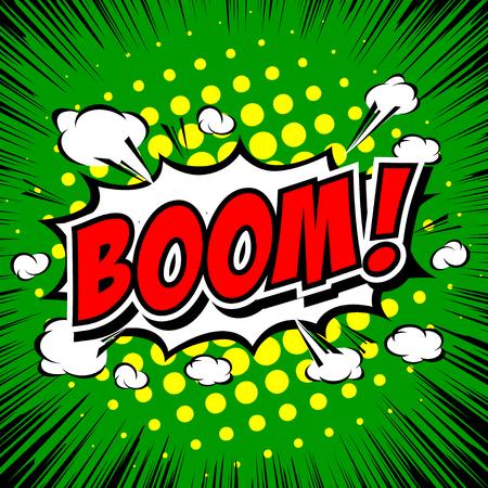 Boom! - Comic Speech Bubble, Cartoon. Illustration