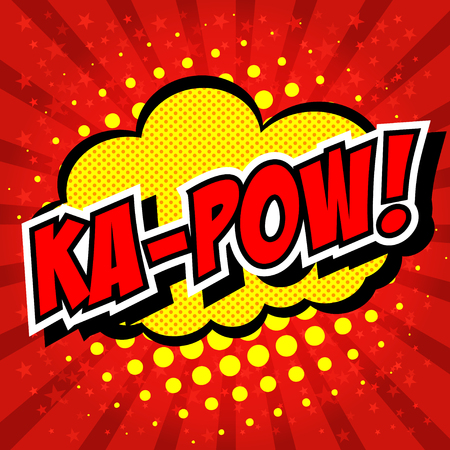biff: Ka-Pow! Comic Speech Bubble, Cartoon