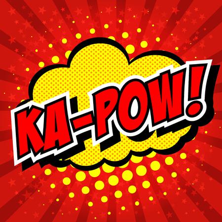 zonk: Ka-Pow! Comic Speech Bubble, Cartoon