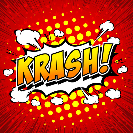 dynamite: krash! - Comic Speech Bubble, Cartoon.