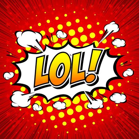 dinamita: LoL! Burbuja cómica del discurso, de la historieta Vectores