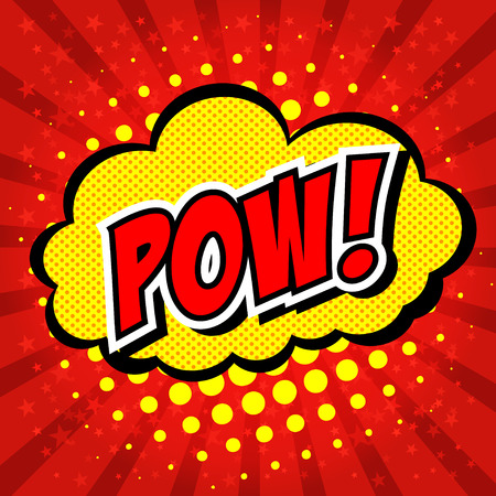 pow: Pow! - Comic Speech Bubble, Cartoon
