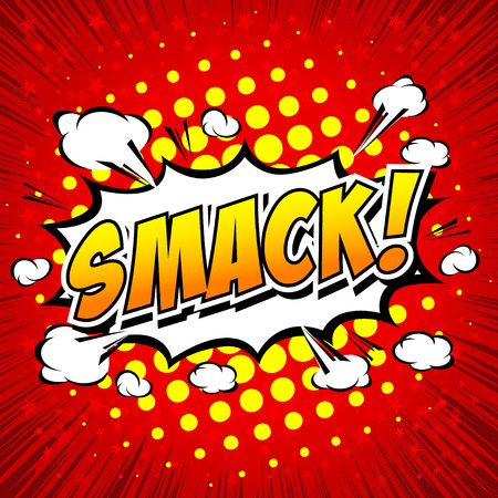 smack: Smack! Comic Speech Bubble, Cartoon.