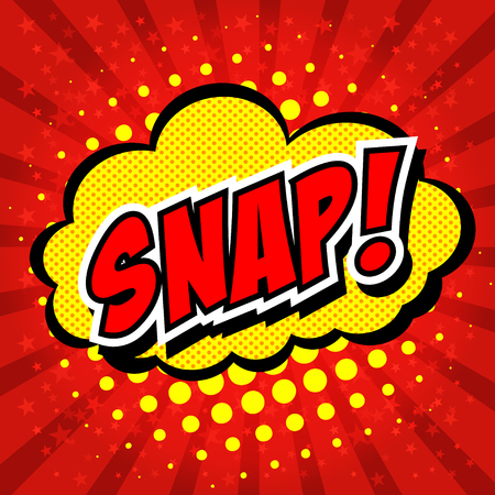 snap: Snap! Comic Speech Bubble, Cartoon.