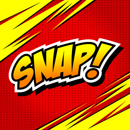 snaps: Snap! Comic Speech Bubble, Cartoon.