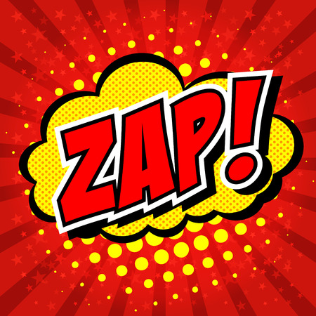 biff: Zap! - Comic Speech Bubble, Cartoon