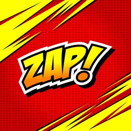 Zap! - Comic Speech Bubble, Cartoon