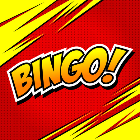Bingo! Comic Speech Bubble, Cartoon