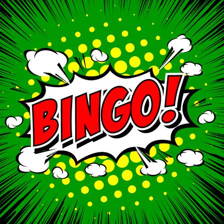 leisure activity: Bingo! Comic Speech Bubble, Cartoon