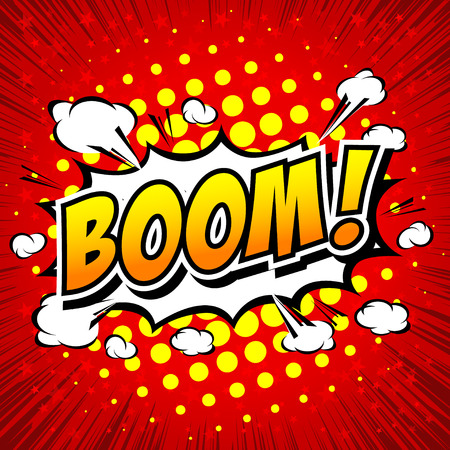 biff: Boom! - Comic Speech Bubble, Cartoon Illustration