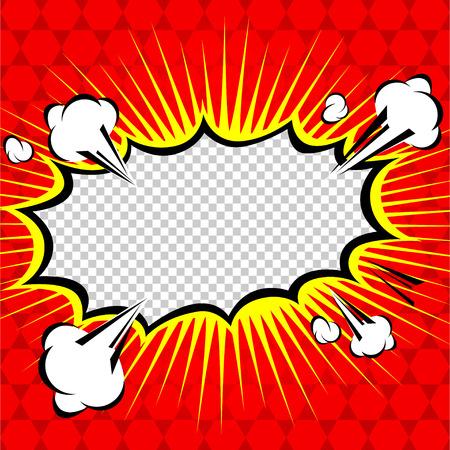 Comic Speech Bubble, Cartoon Vecteurs