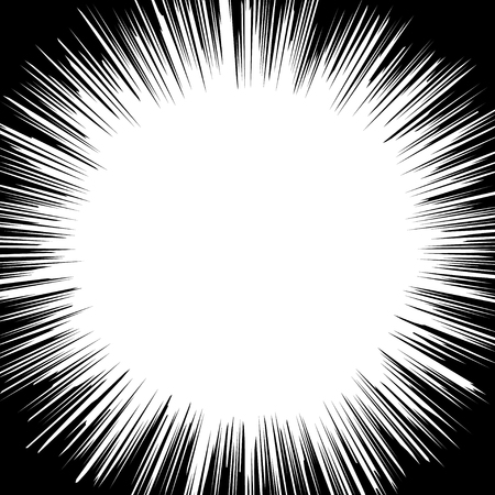 graphic novel: Radial Speed Lines graphic effects for use in comic.