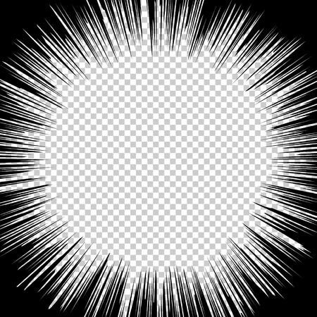 Lignes de vitesse radiale des effets graphiques pour une utilisation dans la bande dessinée.