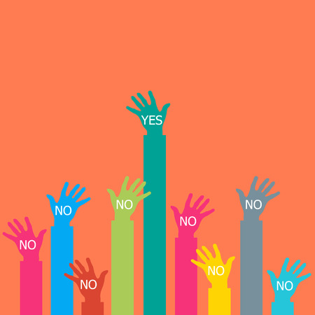 one hand: One hand say yes.
