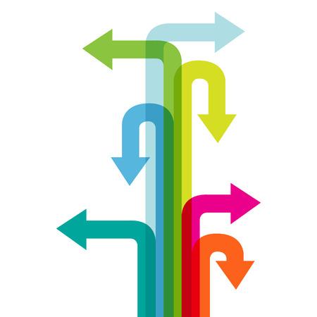 flechas direccion: Muchos dirección de la flecha colorido.