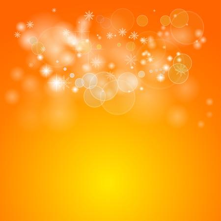 Orange vector bokeh background.
