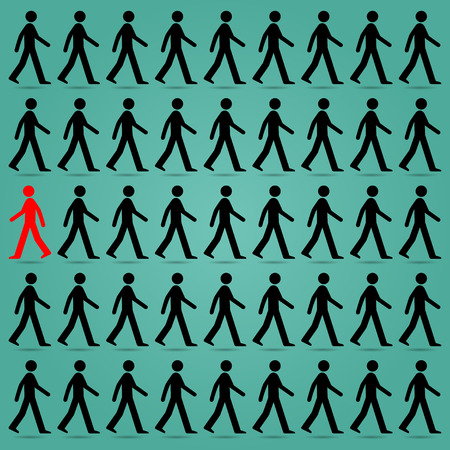 Most people are guided in the right direction. Different from the red to the contrary.