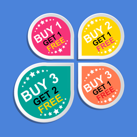 advertisement: Sticker or Label For Marketing Campaign.