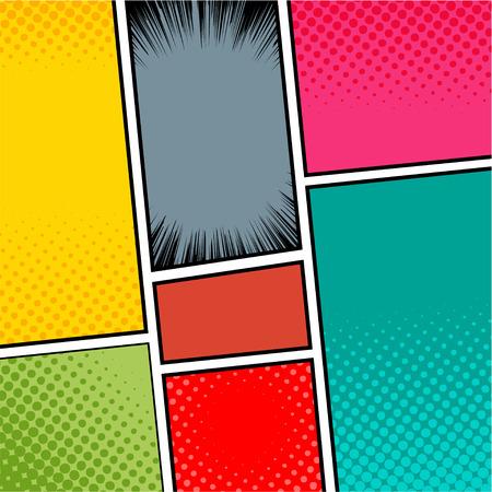 dialogo: Plantilla cómica del vector Pop-Art.