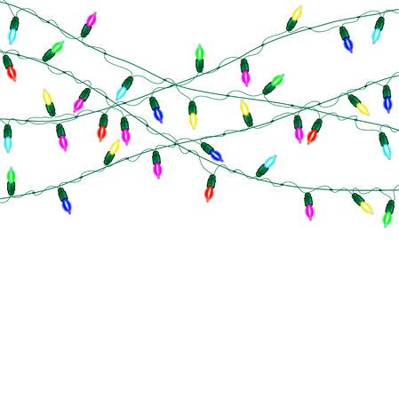lumières de Noël Vector.