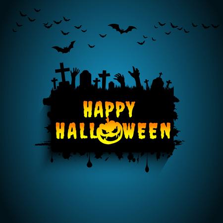 Halloween card. Illustration