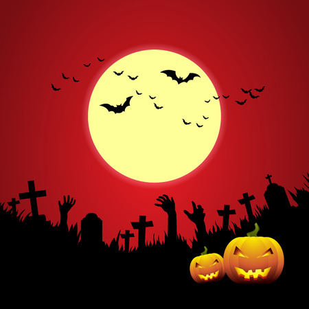 ghost house: Halloween card. Illustration