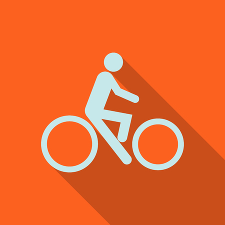 Sign bicycles. illustrator EPS 10