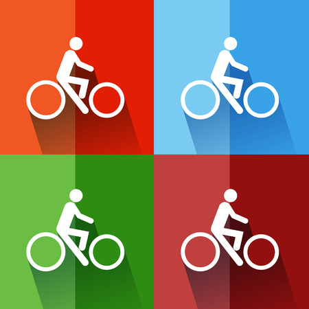 street symbols: Sign bicycles. illustrator EPS 10