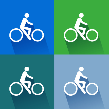 predilection: Sign bicycles. illustrator EPS 10